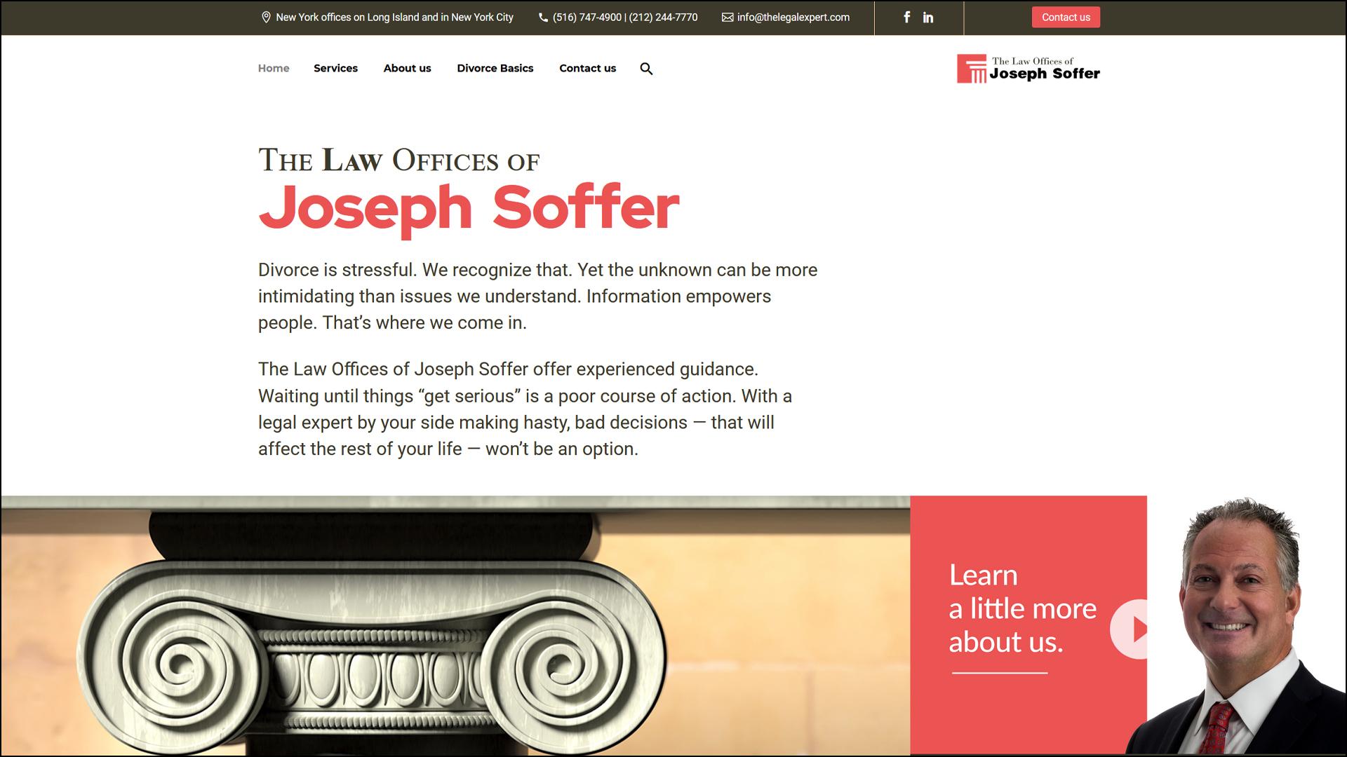 stout marketing designs legal website