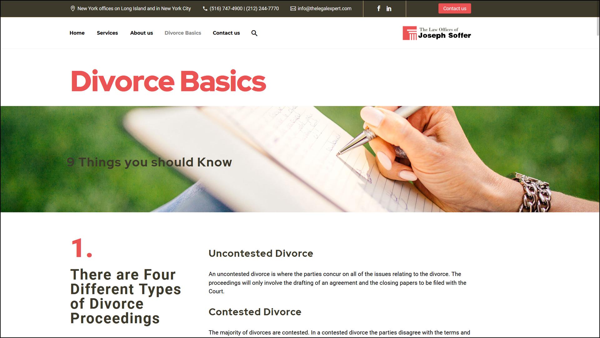 Stout Marketing designs legal page